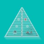 "Creative Grids Non-Slip 60° Triangle 8"" Finished Size"