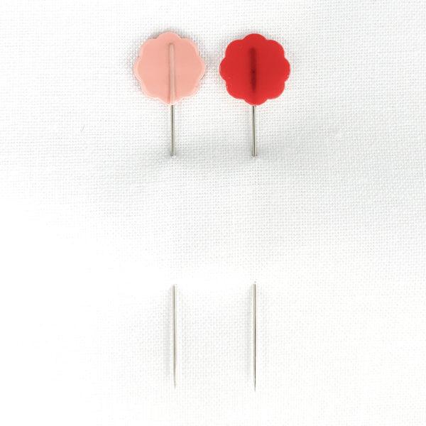 Clover Blümchenkopfstecknadeln rosa/rot