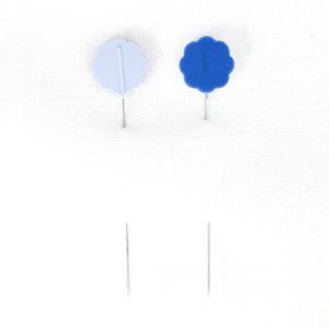 Clover Blümchenkopfstecknadeln blau