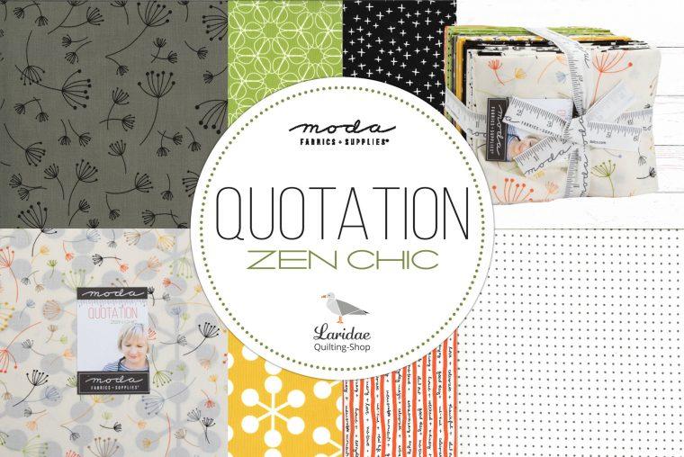Patchworkstoffkollektion Quotation von Zen Chic für Moda Fabrics