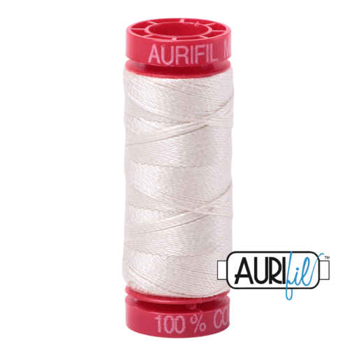 Aurifil 12 Silver White