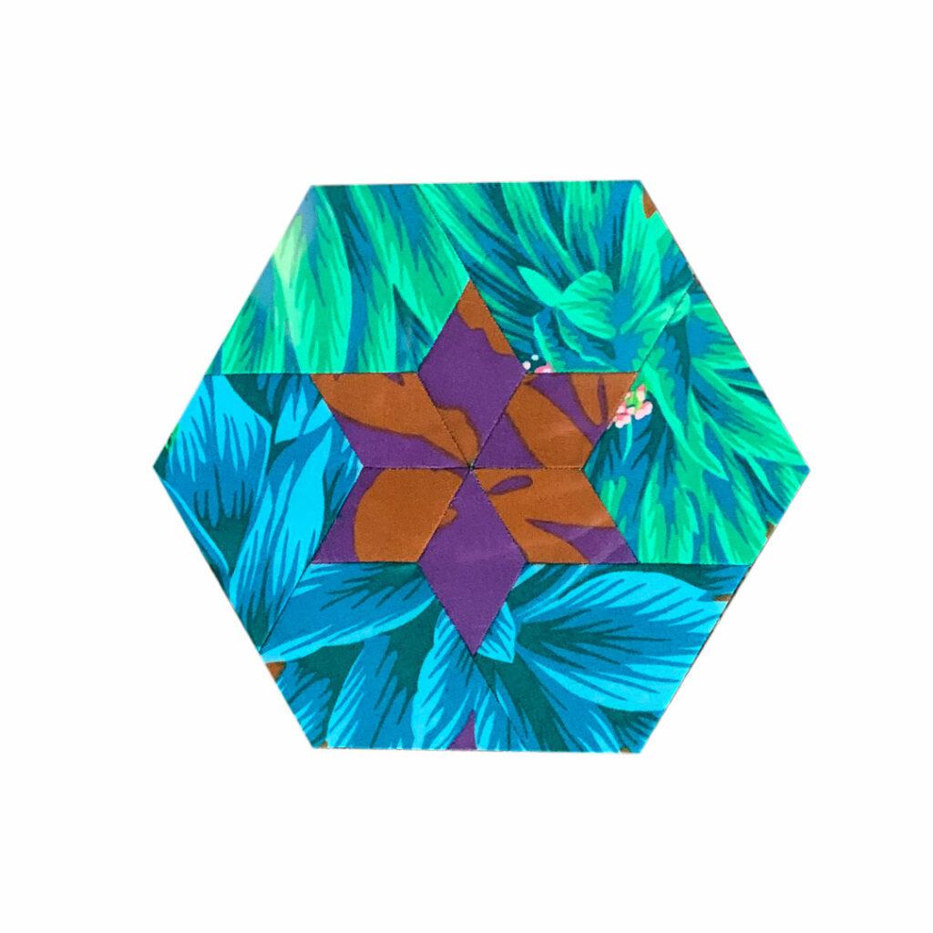 "Argyle-Quilt The New Hexagon 2 Block ""Meg"""