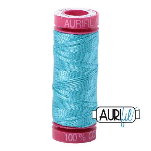 Aurifil 12wt Bright Turquoise