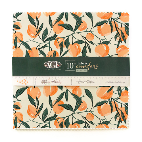 Art Gallery Fabrics Her & History 10 Inch Squares