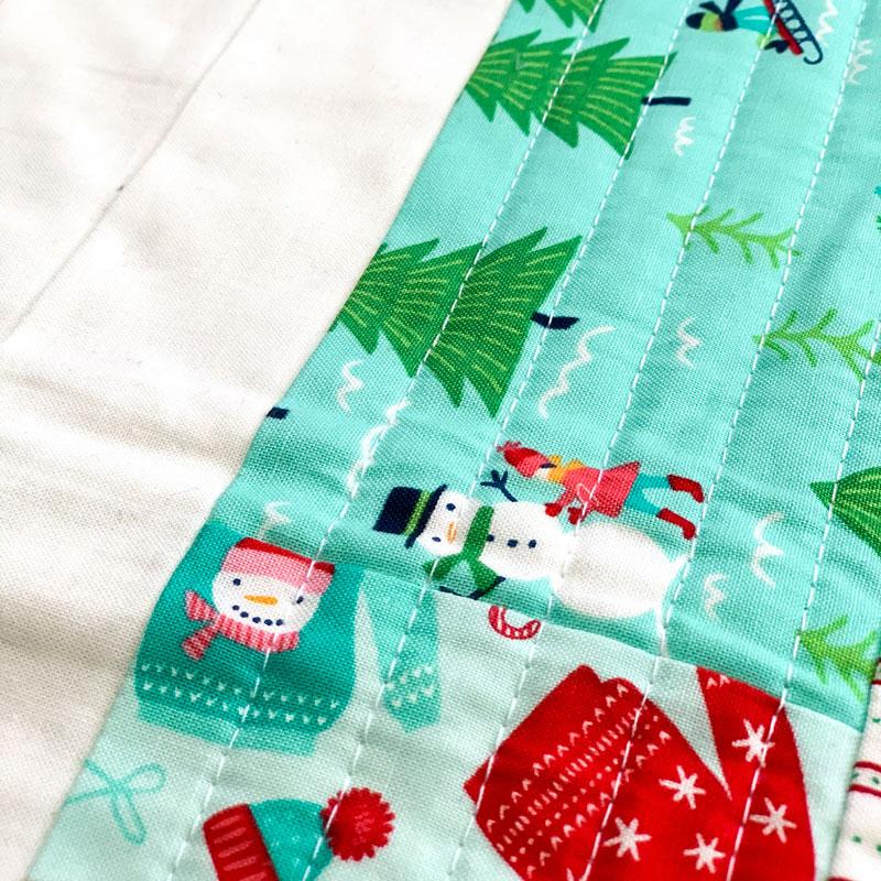 Merry Mini-Quilt Detail3