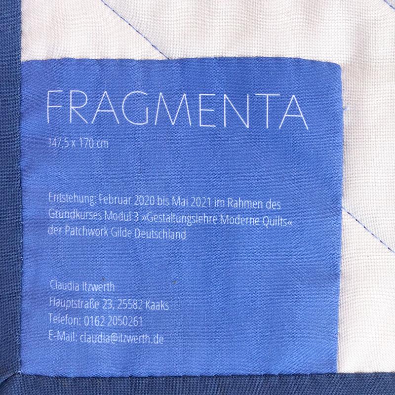 Fragmenta-Quilt Label