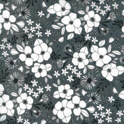 Moda Fabrics Illustrations Wild Florals Graphite