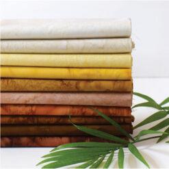 Anthology Fat Quarters-Bundle Batik Golden Brown