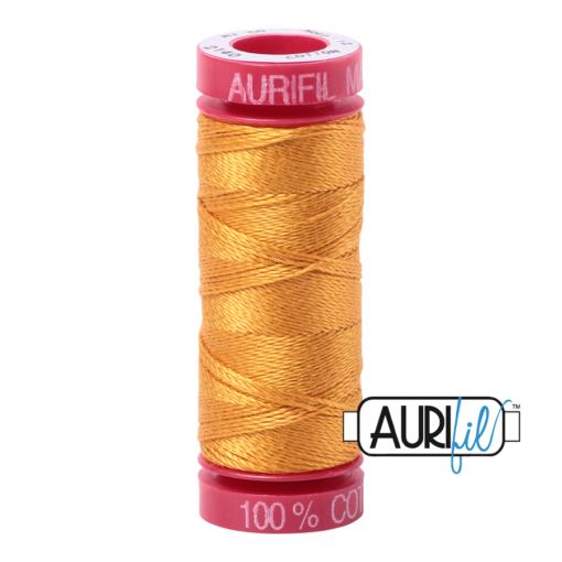 Aurifil 12wt 2140 Orange Mustard
