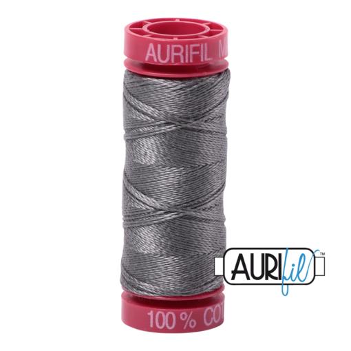 Aurifil 12wt 5004 Grey Smoke