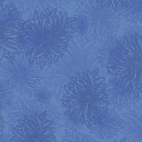 Art Gallery Fabrics Floral Elements Cobaltic